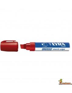Marcador Permanente LYRA Grosso Color rojo