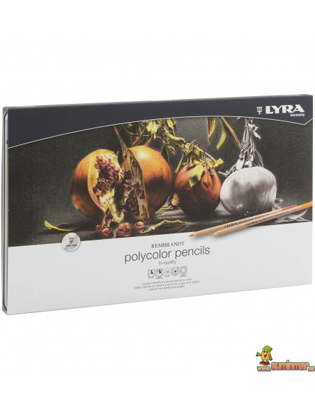 Lápices policromos acuarelables LYRA Rembrandt Aquarell en caja