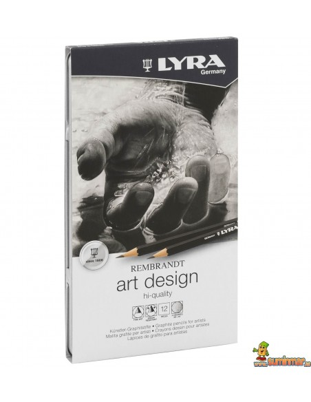 Set de lápices de grafito LYRA Rembrandt Art Design 12 piezas
