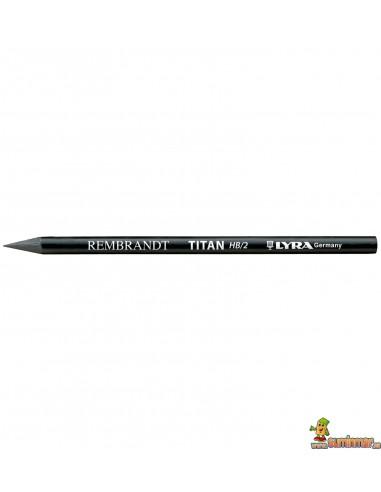 Lápiz de grafito puro Lyra Titan HB