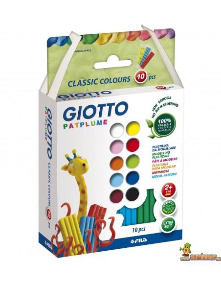 Giotto Patplume plastilina 10 x 20g colores surtidos