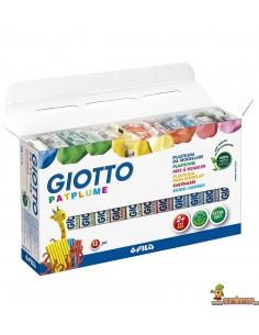 Giotto Patplume plastilina 12 x 150g colores surtidos