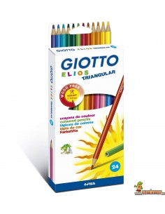 Lápices Giotto Elios Triangular Wood free Caja 24