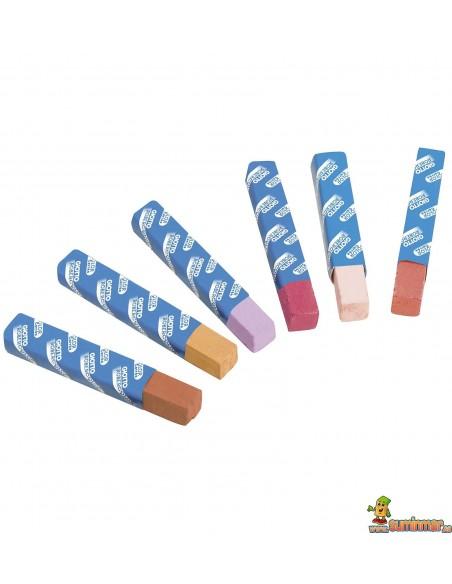 Tizas Giotto Robercolor Carrée 12 colores