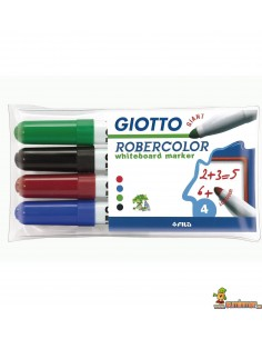 Pack Rotulador pizarra Giotto Robercolor punta gigante 4 colores