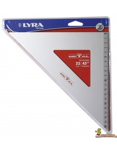 Escuadra de aluminio LYRA Metal 45º