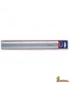 Regla de aluminio antideslizante LYRA Metal 30 cm