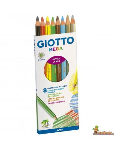 Lápices de colores Giotto Mega Caja 8 colores