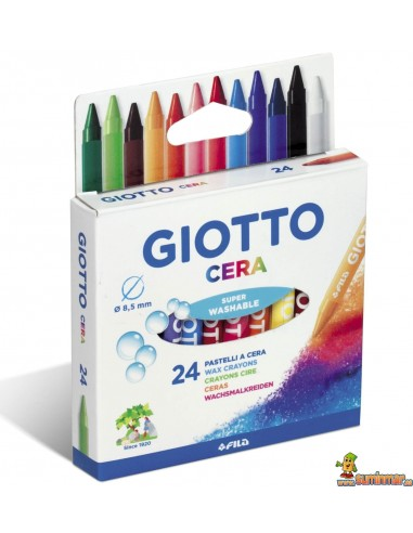 Cera para niños Giotto 24 colores