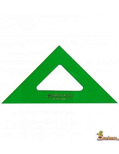 Escuadra Faber Castell para dibujo técnico. Varias medidas.