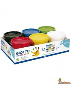 Pintura para dedos Giotto 6 x 200 ml