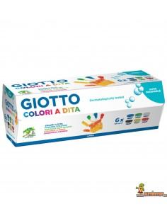 Pintura para dedos Giotto 6 x 100 ml