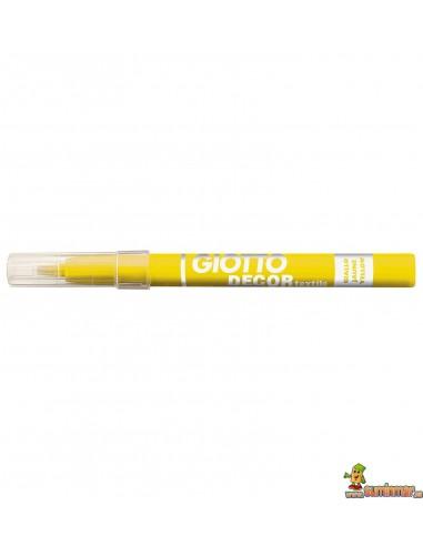 Giotto Decor Textile rotulador para ropa amarillo neón