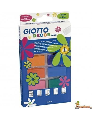 Giotto Decor Wax Cera multisuperficie 12 colores