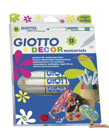 Giotto Decor Materials rotulador universal 12 uds
