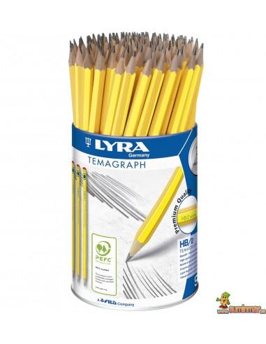 Bote de lápices de grafito LYRA Temagraph 96 ud