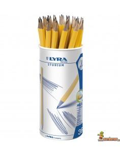 Bote lápices de grafito LYRA Studium 36 uds