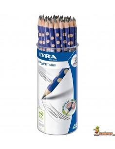 Bote lápices de grafito LYRA Groove Slim 48 uds