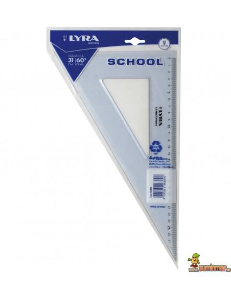 Cartabón escolar LYRA School