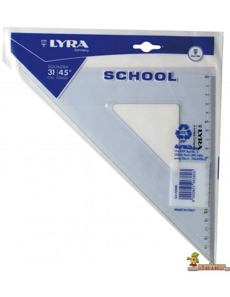 Escuadra escolar LYRA School 45º