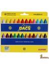 Ceras blandas Alpino Dacs, caja de 24 colores