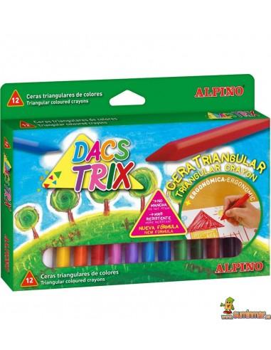 Ceras triangulares para niños Alpino DacsTrix 12 colores