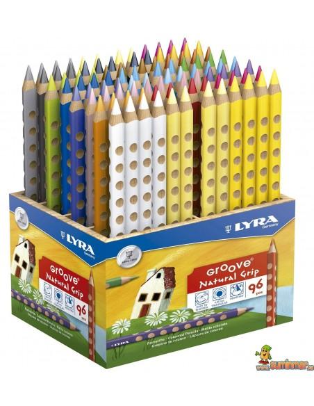 Lápices de colores LYRA Groove Schoolpack 96 uds