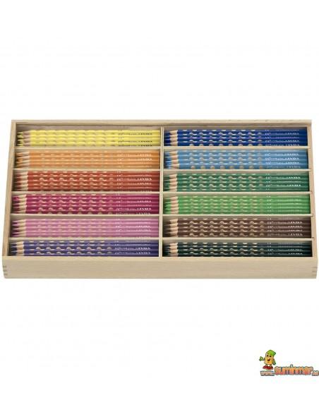 Lápices de colores LYRA Groove Slim Schoolpack 144 uds