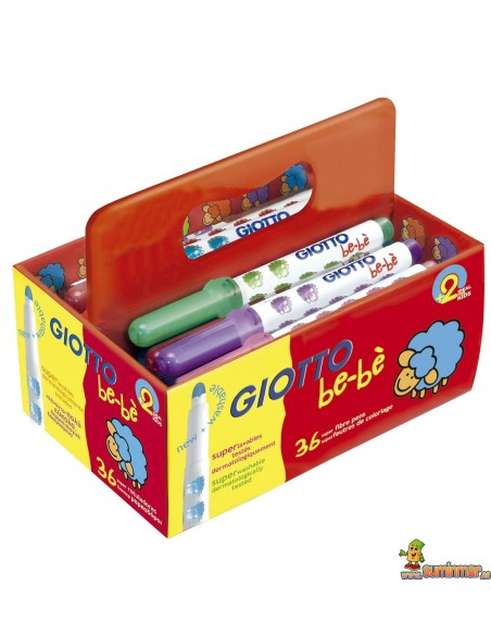 Rotuladores Giotto be-bè 36 uds Schoolpack