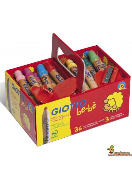 Lápices de colores Giotto be-bè 36 uds Schoolpack