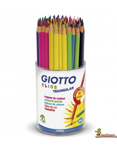 Lápices Giotto Elios Wood free Schoolpack 84 uds