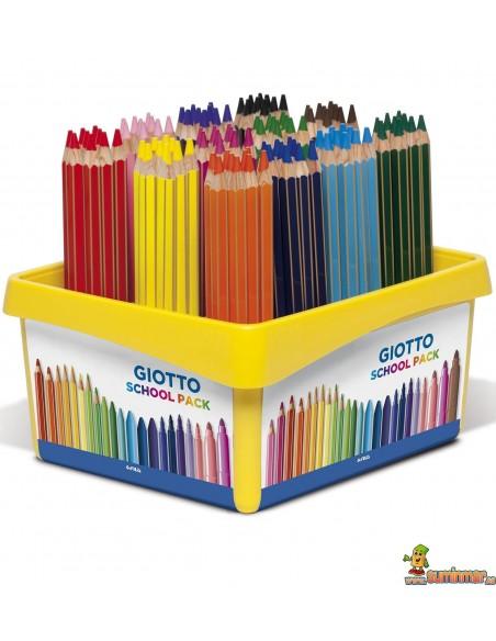 Lápices de colores Giotto Mega Schoolpack