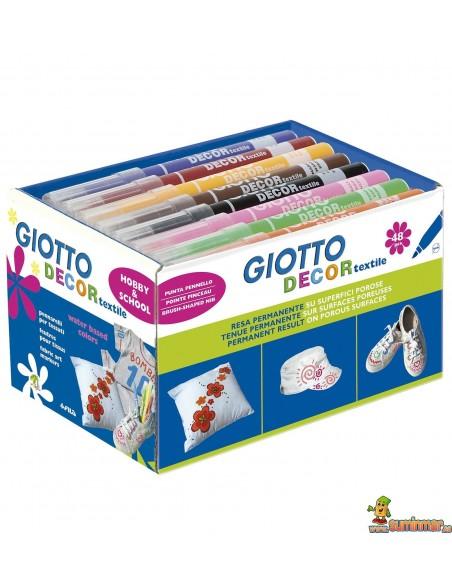Giotto Decor Textile rotulador para camisetas 48 uds Schoolpack