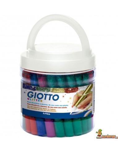 Giotto Decor Glitter Glue schoolpack colores surtidos 50 ud