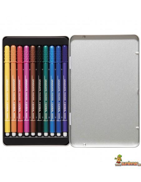 LYRA Graduate Fineliner Caja de Rotuladores 10 colores