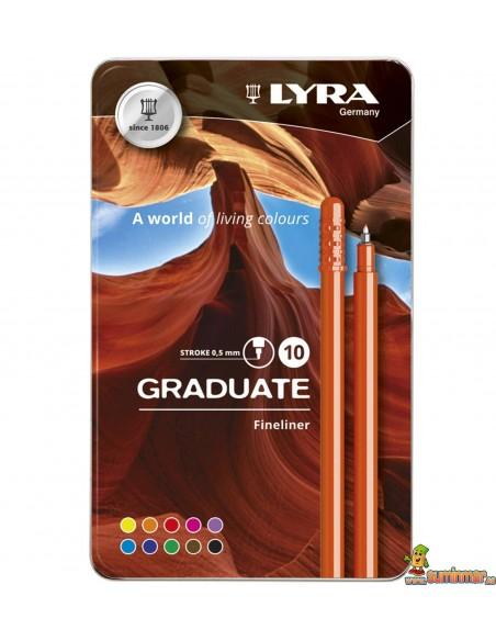 LYRA Graduate Fineliner Caja de rotuladores