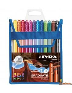 LYRA Graduate Fineliner Estuche de rotuladores 12 ud