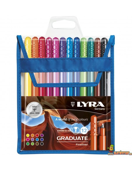 LYRA Graduate Fineliner Estuche de rotuladores