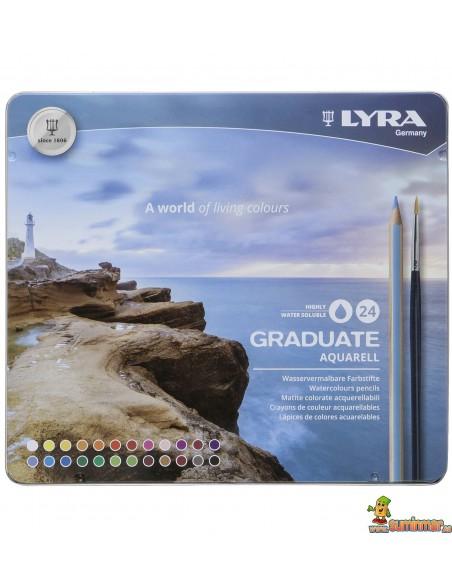 LYRA Graduate Aquarell Caja Lápices de colores acuarelables