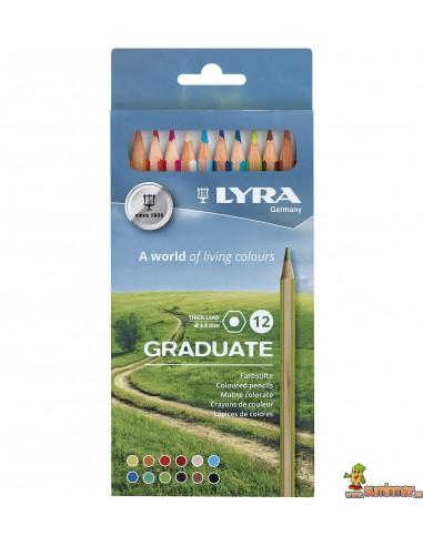 LYRA Graduate Caja de lápices de colores 12 ud