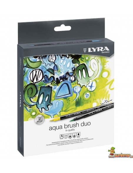 Rotuladores con punta de pincel LYRA Aqua Brush Duo