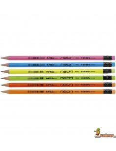 Lápiz escolar LYRA Neon, con cuerpo en colores neón