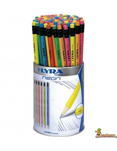 Bote de lápices fluorescentes LYRA Neon 96 uds
