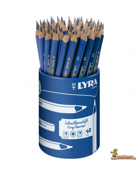 Bote de lápices de grafito LYRA Easy Learner 48 uds