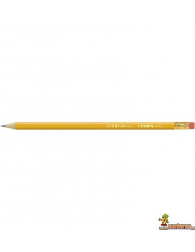 Lápiz con goma para uso escolar LYRA Studium