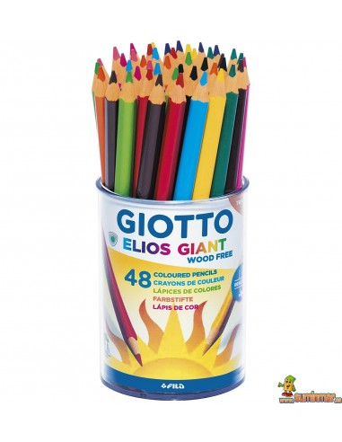 Lápices Giotto Elios Giant wood free Schoolpack 48 ud