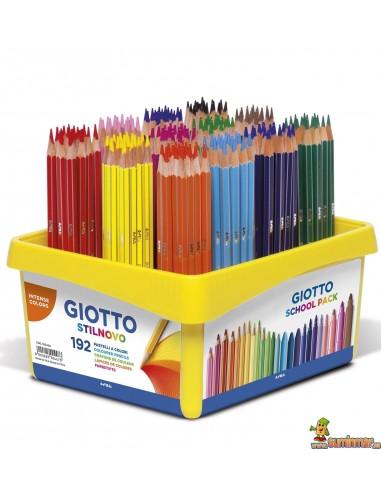 Lápices de colores Giotto Stilnovo Schoolpack 192 ud