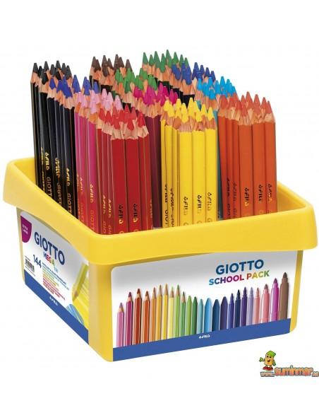 Lápices de colores Giotto Mega Tri 144 uds Schoolpack