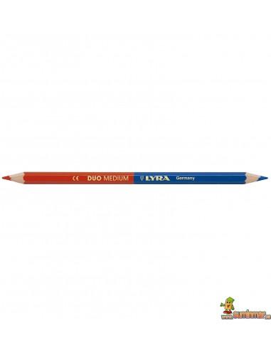 Lápiz azul y rojo LYRA Duo Mediano