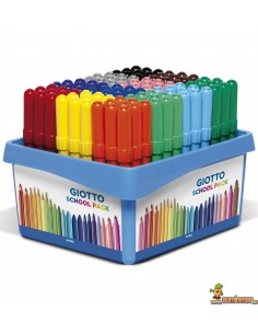 Rotuladores Giotto Turbo Maxi Schoolpack 108 uds